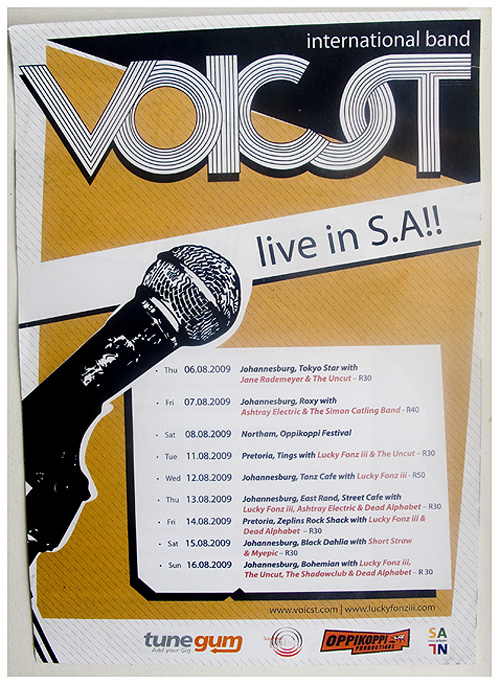 Voicst South African Tour Poster 2009